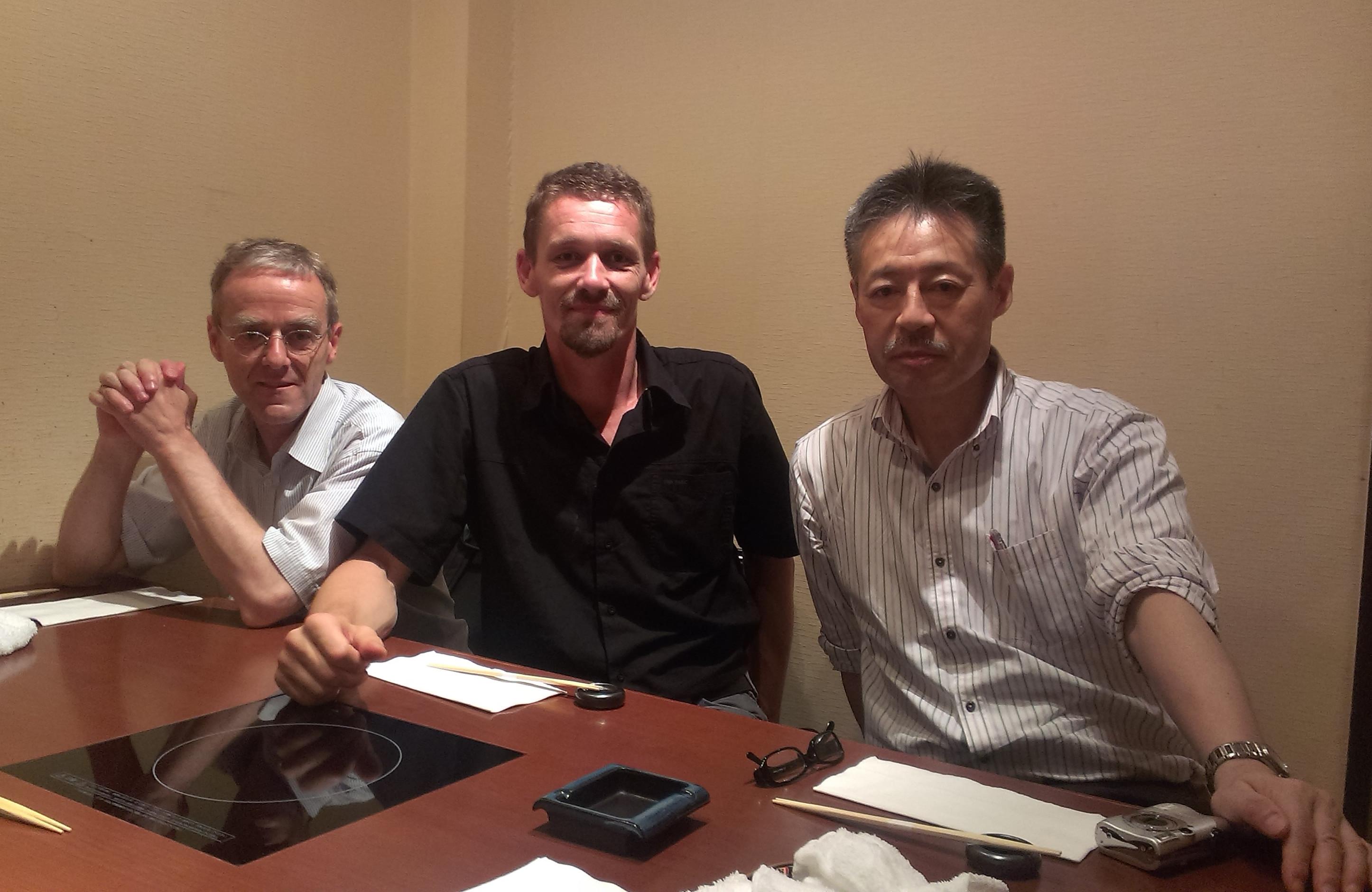 Andreas Nievergelt, Franck Cinato, Teiji Kosukegawa